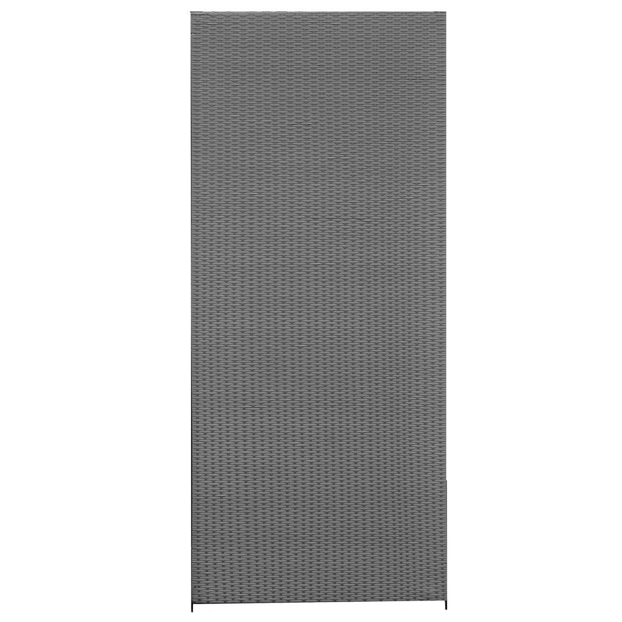 Sichtschutzwand Kunststoff Geflecht grau