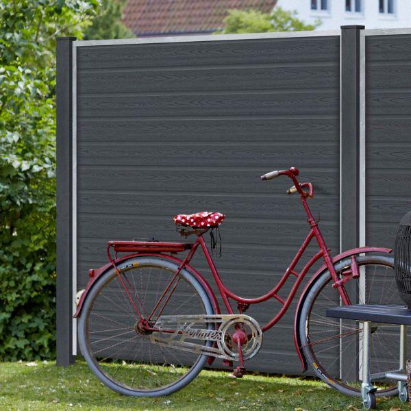 wpc sichtschutz zaun artura anthrazit. Black Bedroom Furniture Sets. Home Design Ideas