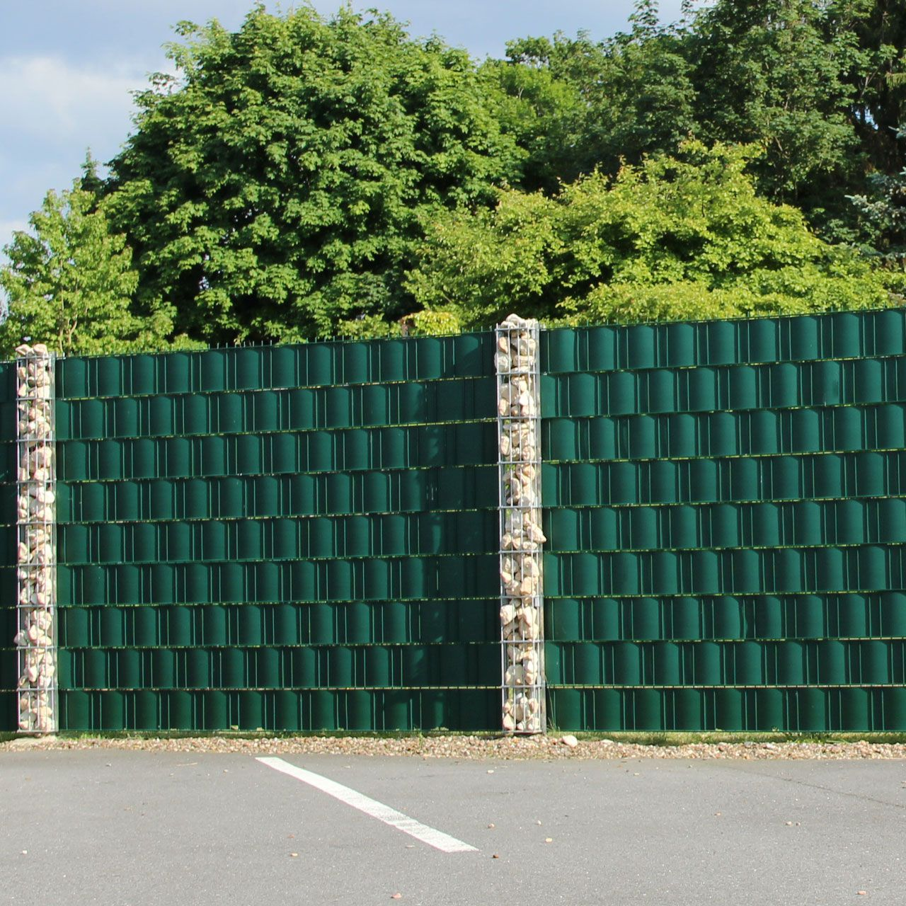Hart PVC Sichtschutzstreifen Doppelstabmatten grün