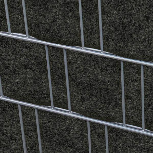 Sichtschutzstreifen PES Gewebe für Stabgitterzaun, anthrazit