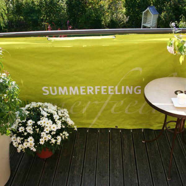 Balkonverkleidung Banner Summerfeeling, hellgrün