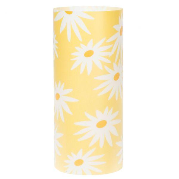 Windlicht Margerite, gelb