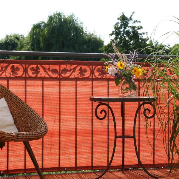 Balkonbespannung PE, Classic terrakotta