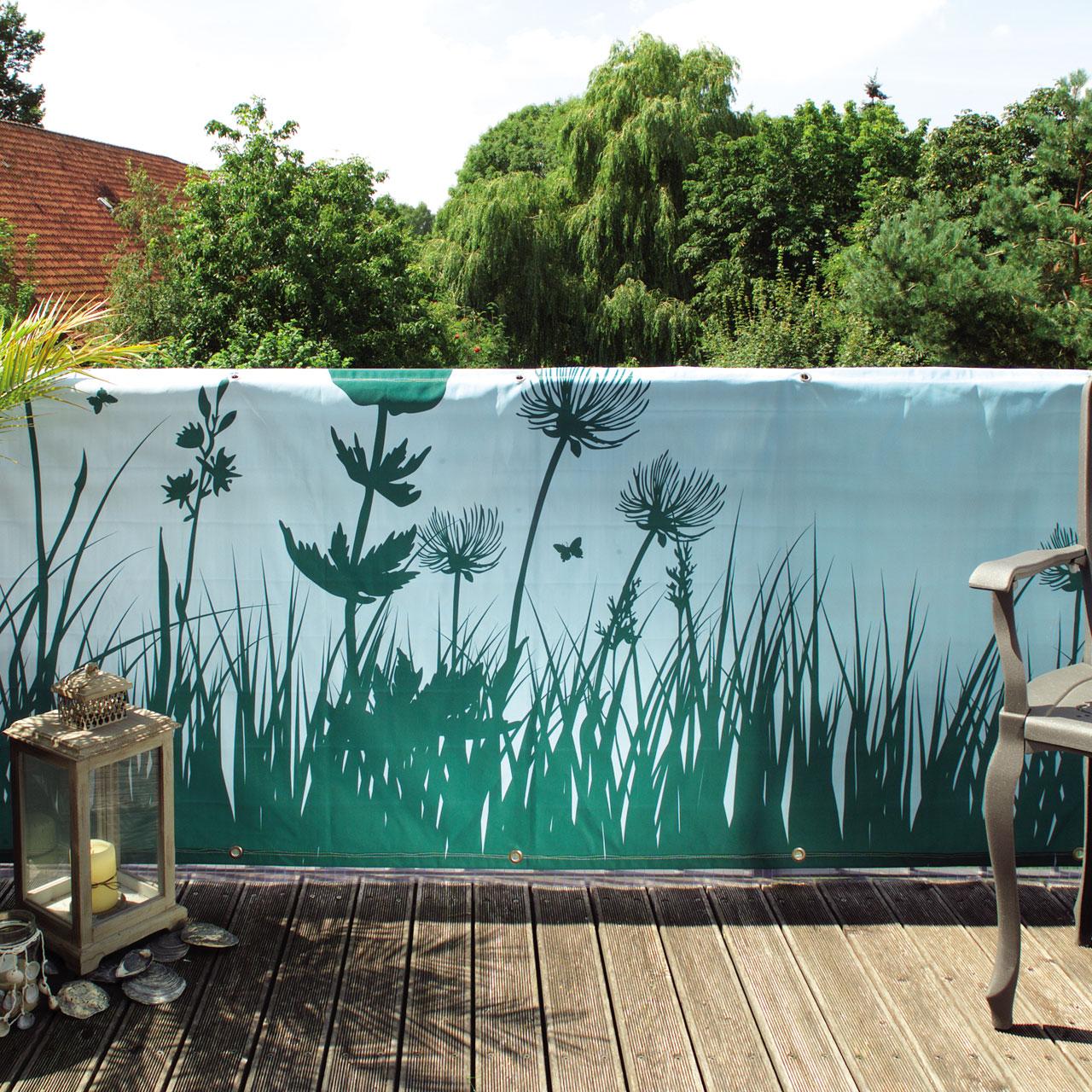 balkonverkleidung banner springtime t rkis. Black Bedroom Furniture Sets. Home Design Ideas