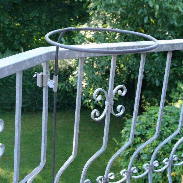 Balkon-Pflanzkorb-Halterung rund, verzinkt
