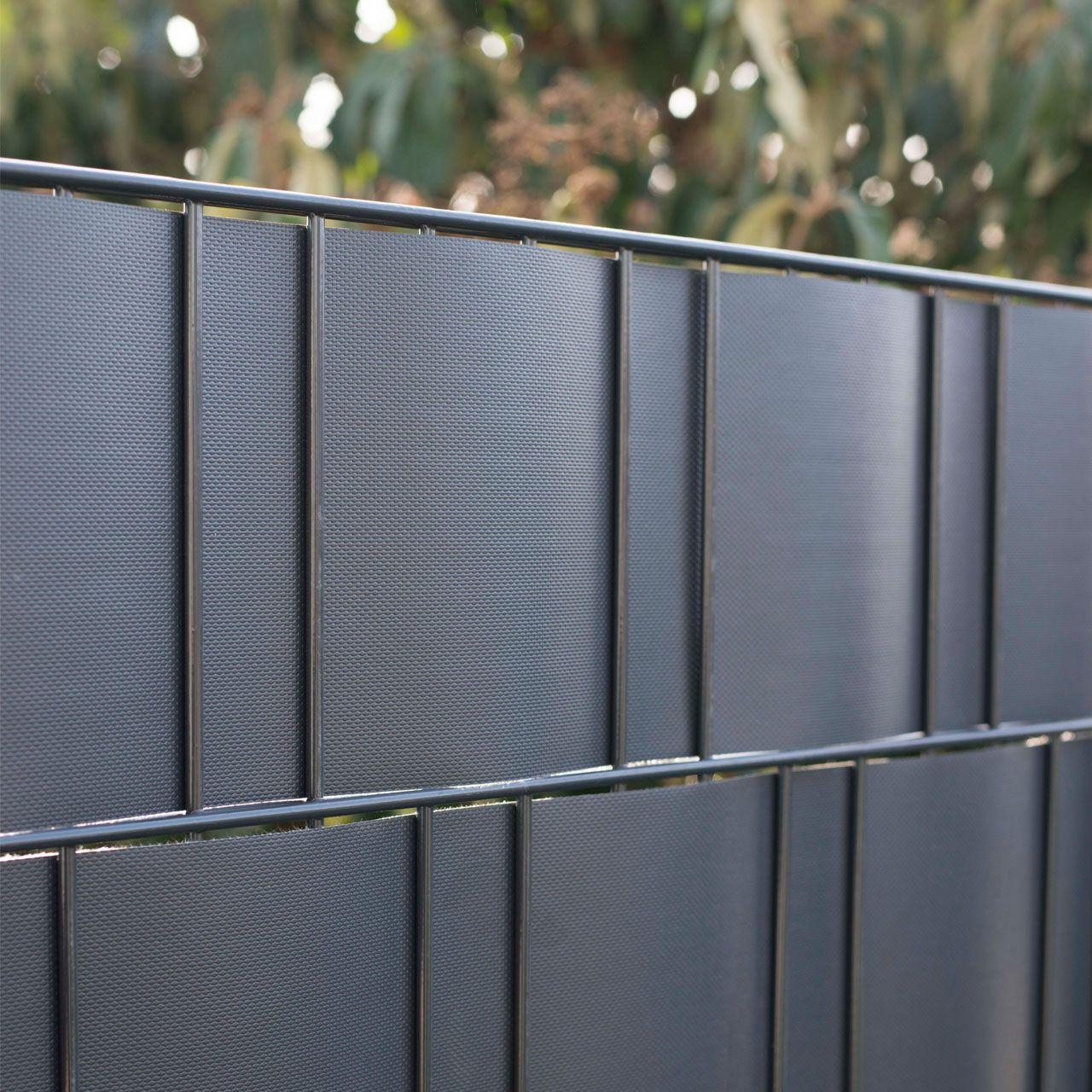 PVC Flex Sichtschutzstreifen Doppelstabmatten anthrazit