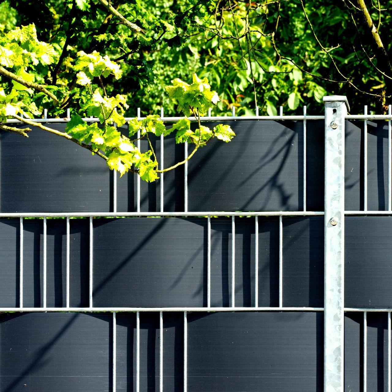 Hart PVC Sichtschutzstreifen Doppelstabmatten anthrazit