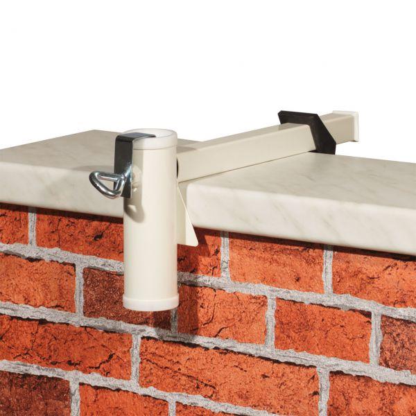 Sonnenschirmhalter Videx® für Balkon-Mauerbrüstung, weiß