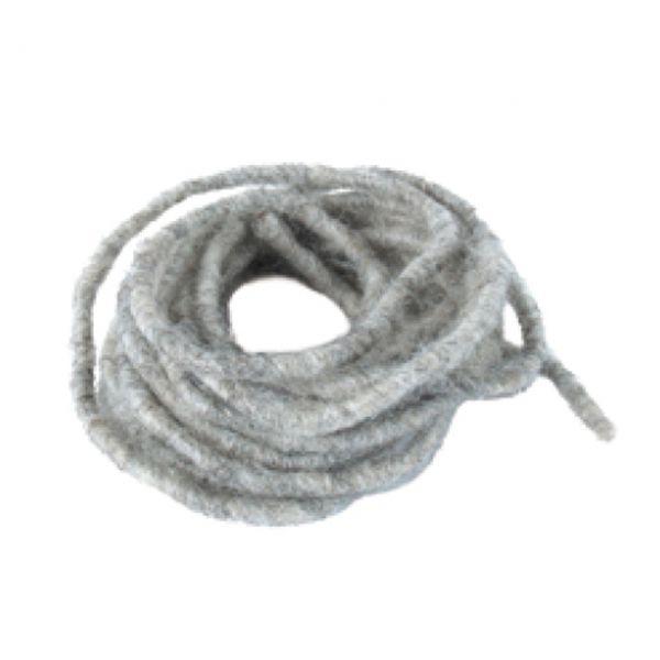 Woll-Dochtfaden, Ø 3-4mm, stein-grau