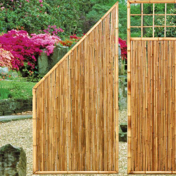 Sichtschutzwand Bambus, ZEN Abschlusselement schräg