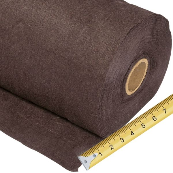 Winterschutzmatte Jute-Filz dunkelbraun, Meterware 0,5m breit