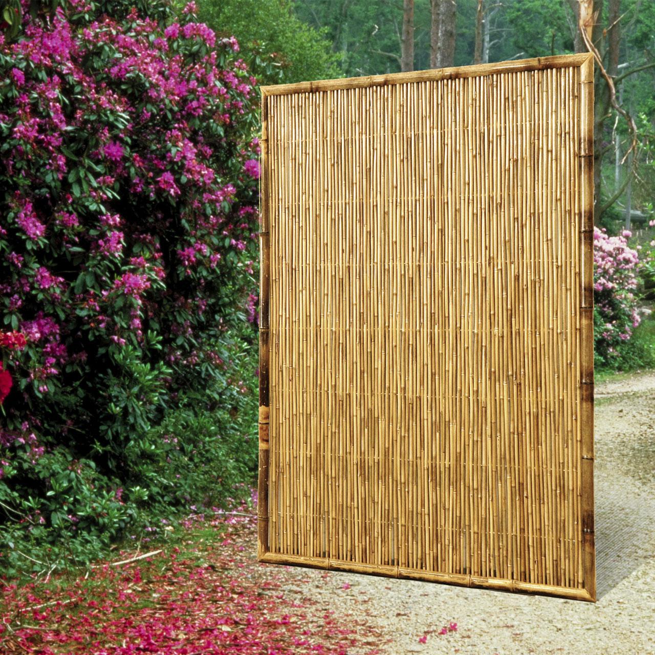 Sichtschutzwand Bambus Zen Geschlossen Balkonerlebnis De
