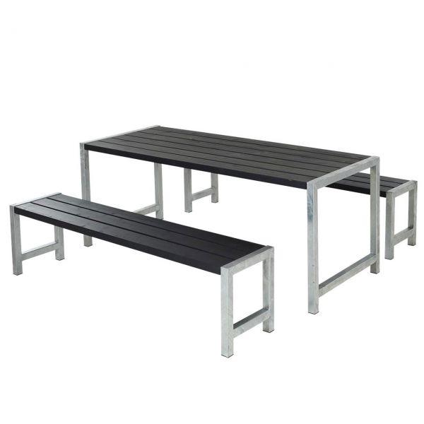Gartenmöbel-Set PLANKEN, 186 cm