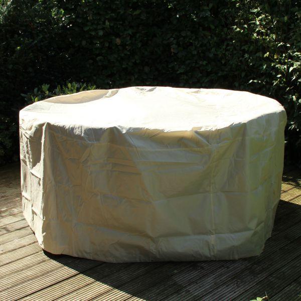 Gartenmöbel-Schutzhülle runde Tischgruppe, beige