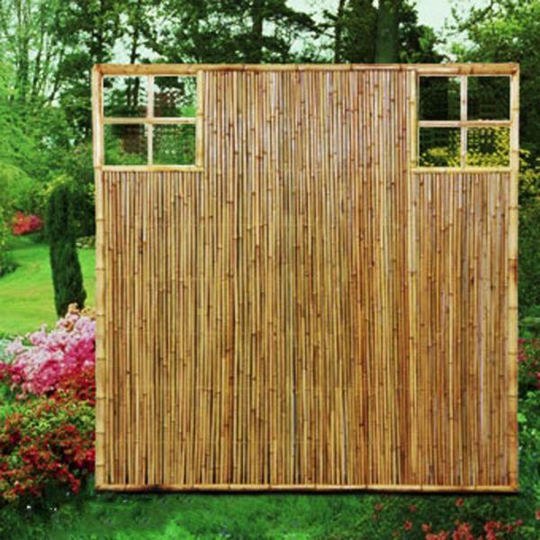 Sichtschutzwand Bambus, ZEN Ziergitter außen
