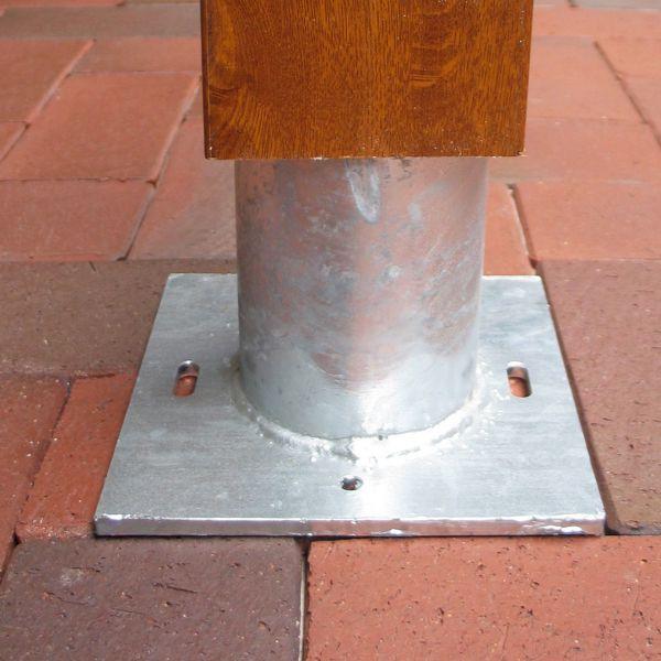 Metallfuß für Pfosten 10x10 Stecksystem SOLID