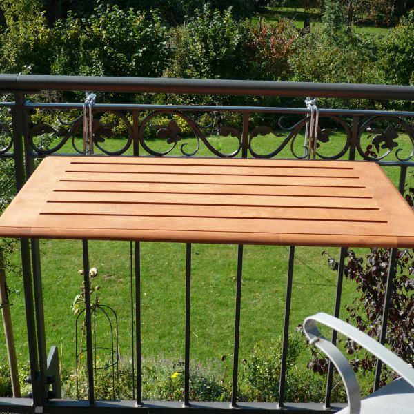 Balkonklapptisch, Bambusholz 40 x 60cm