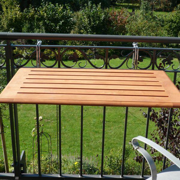 Balkonklapptisch  Balkonklapptisch, Bambusholz 40 x 60cm | Balkonerlebnis.de