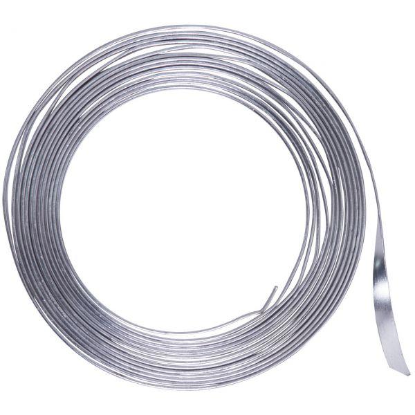 Flachdraht 5mm aus Aluminium, silber