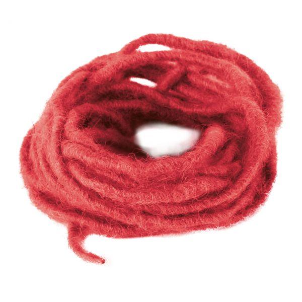 Woll-Dochtfaden, Ø 3-4mm, rot