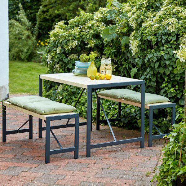 Gartentisch & Bänke FUNKIS als Set