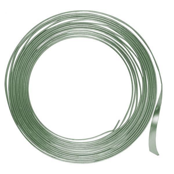 Flachdraht 5mm Aluminium, lindgrün