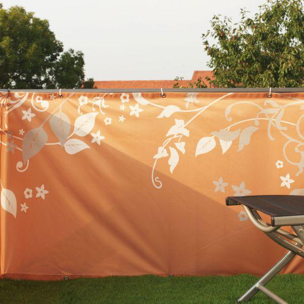 Balkonverkleidung Banner Fantasie, terrakotta
