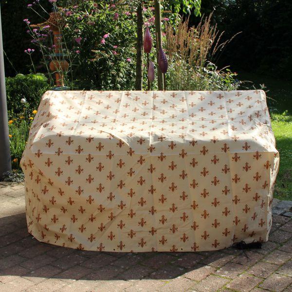 Gartenmöbel-Schutzhülle Gartenbank, Lilien-Design beige