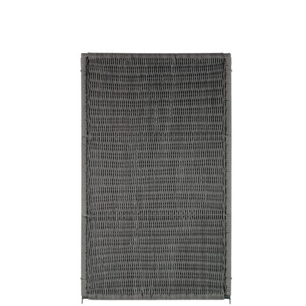 Sichtschutzwand Polyrattan-Geflecht, Öland vertikal, grau-meliert