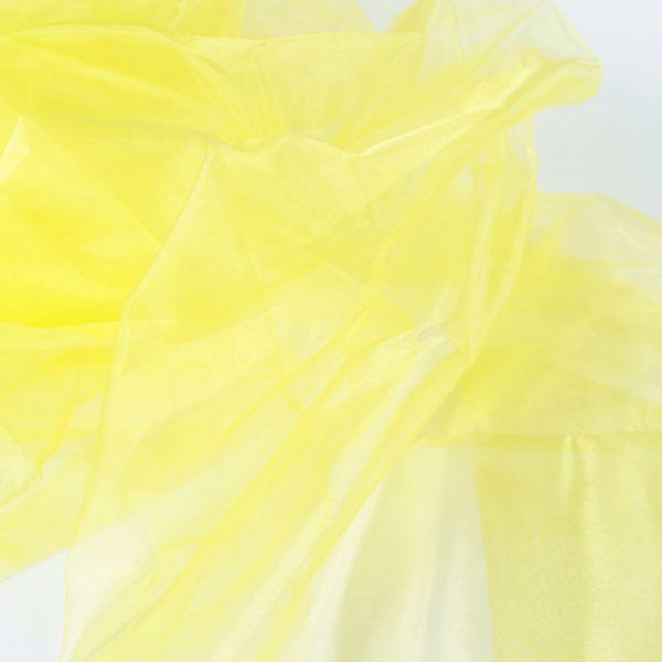 Dekostoff Organza, gelb