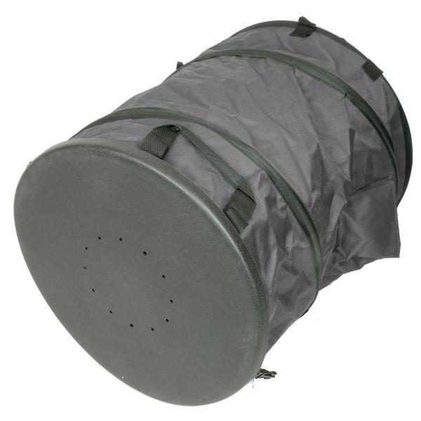 Gartenabfall PopUp-Sack mit Bodenplatte und Verschluss, anthrazit