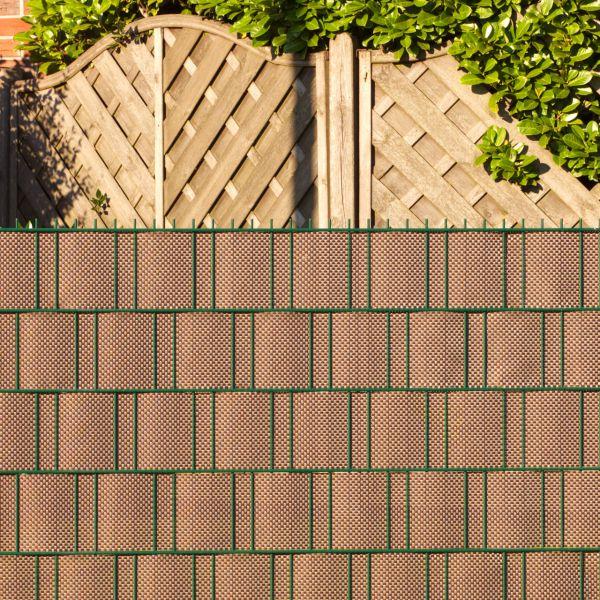 Polyrattan-Sichtschutzstreifen, mocca/anthrazit