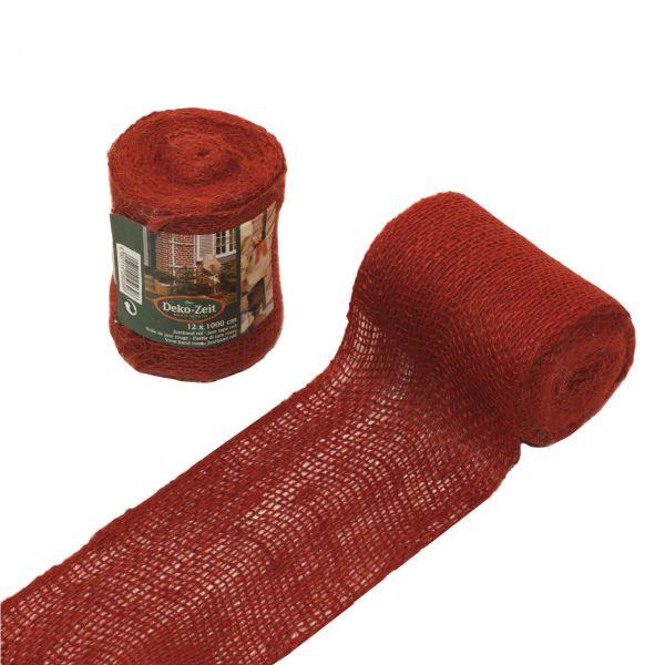 Deko-Juteband, rot