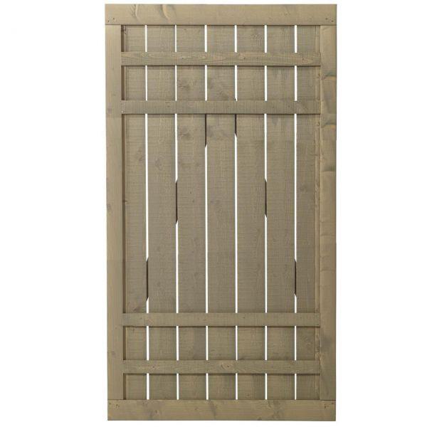 Sichtschutztür Holz, Rustig taupe