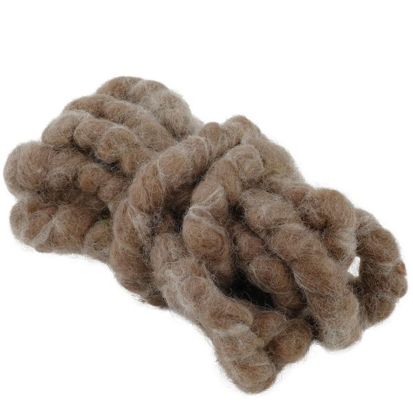 Woll-Filzkordel Vintage,  2 cm, braun