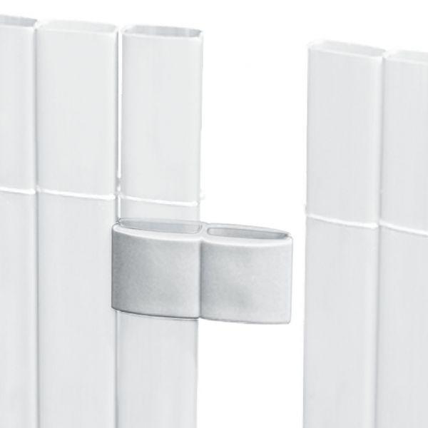 Mattenverbinder für Sichtschutzmatte Rügen, weiß