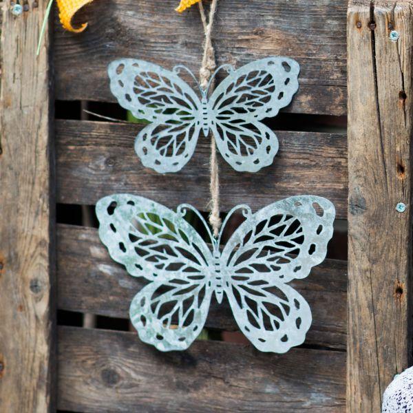 Deko-Hänger Schmetterling, silber