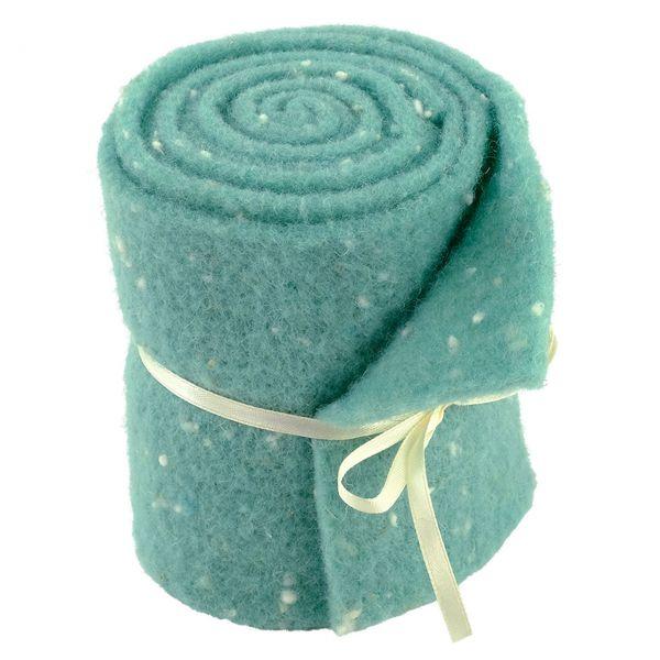 Woll-Filzband extrabreit, gepunktet mint