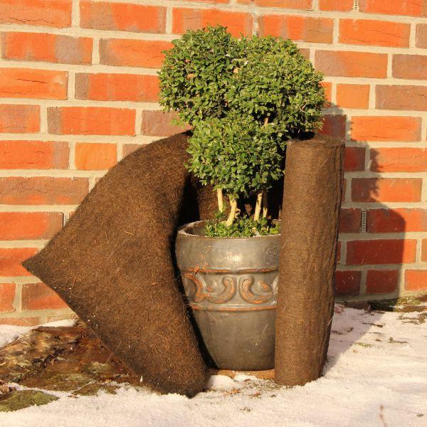 Kokosmatte Winterschutz braun