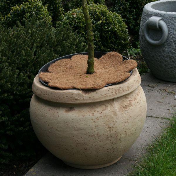 Kokosmatte Winterschutz Blume mit Loch natur