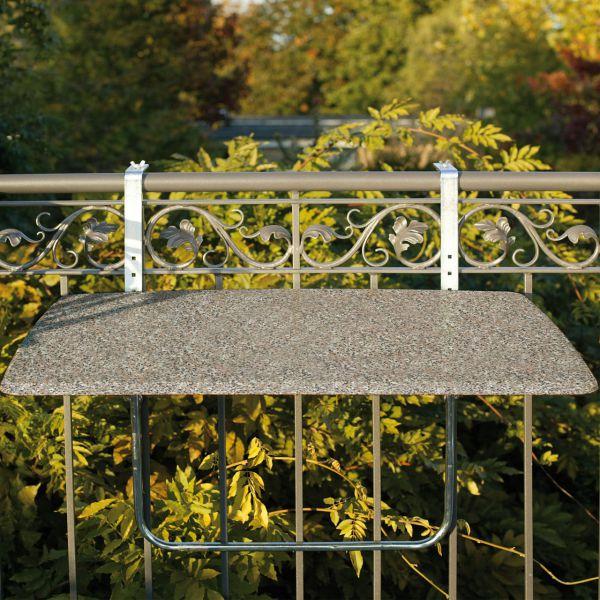 Balkonklapptisch, Werzalitplatte terrazzo, 50 x 100 cm