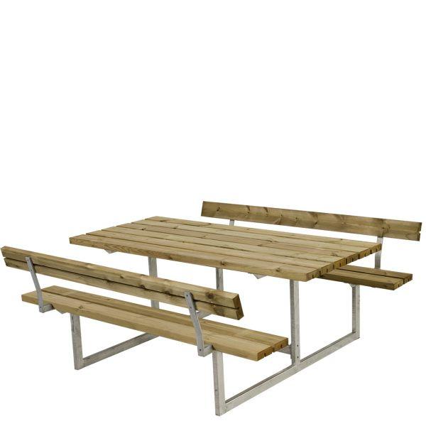 Picknicktisch mit Bänken BASIC & Lehnen