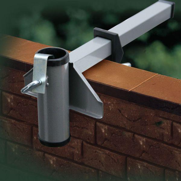Sonnenschirmhalter Videx® für Mauerbrüstung, aluminium