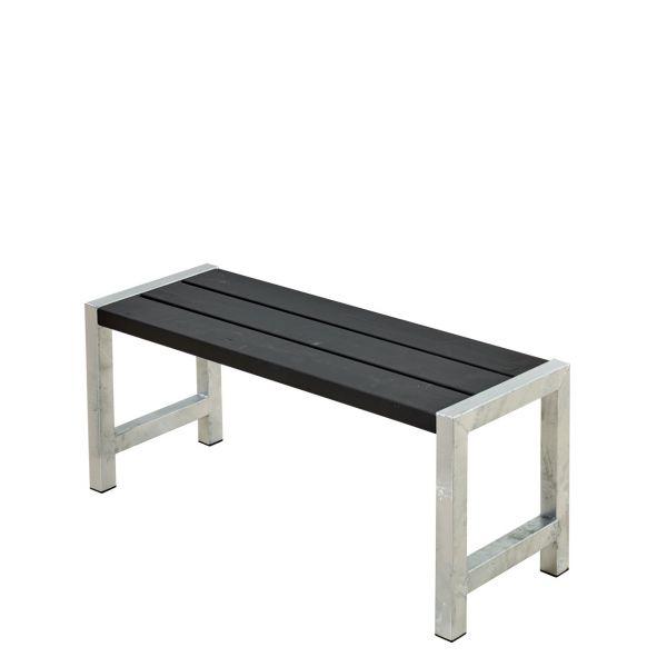 Balkonbank PLANKEN, Stahlrahmen & Holz