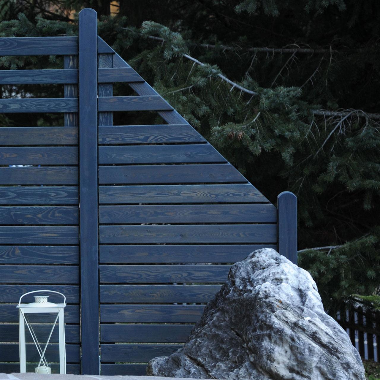 Sichtschutzwand Hochgebirgs Larche Scala Graphit Grau