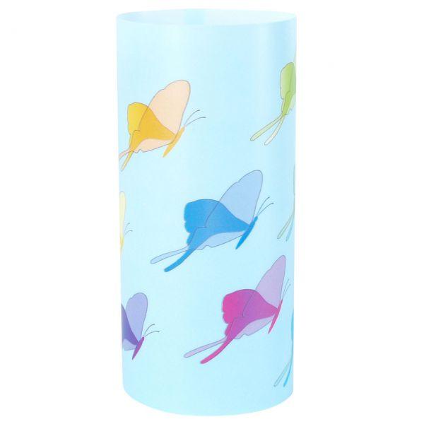 Windlicht Schmetterlinge, sandhell