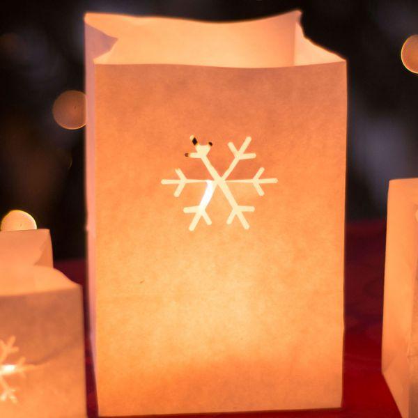 Lichtertüten Schneeflocke