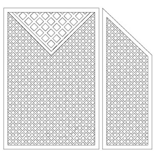 Sichtschutzwand Kunststoff Terrasse, Coventry Set 2