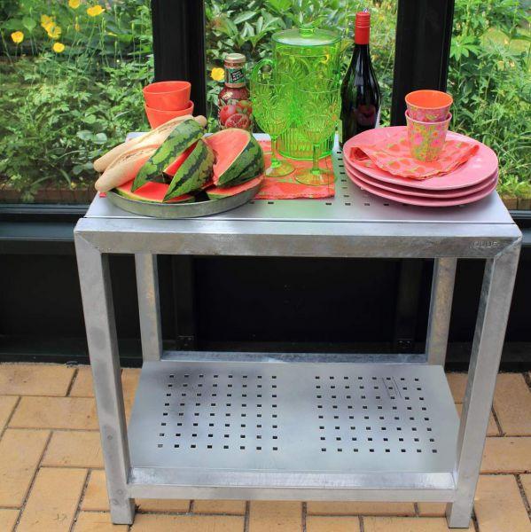 Metall Tisch mit Regalboden