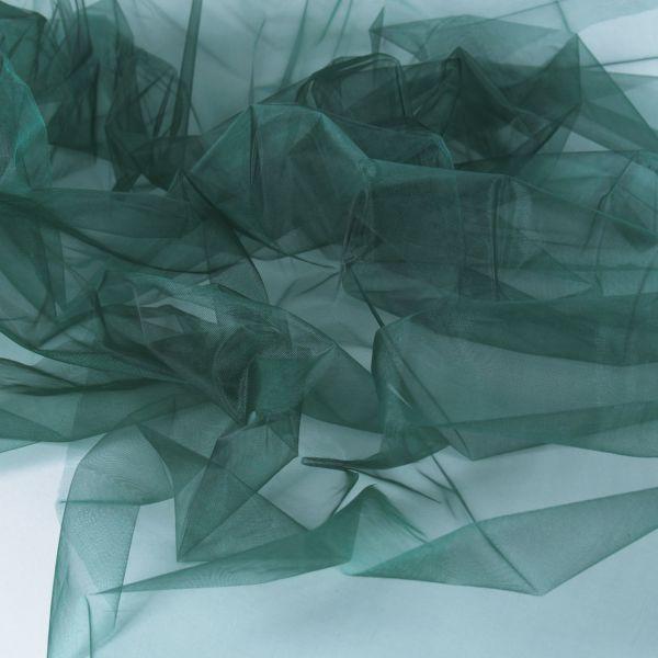 Dekostoff Organza, dunkelgrün